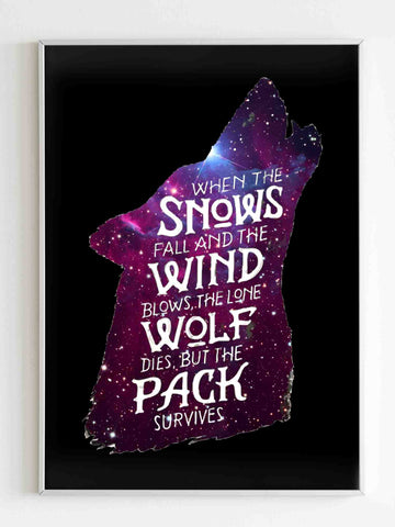 Game Of Thrones Wolf Quote In The Galaxy Poster - Nuu Shirtz