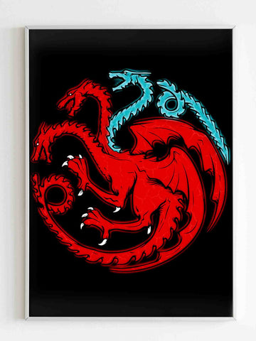 Game Of Thronestrinity Of Fire And Ice Poster - Nuu Shirtz