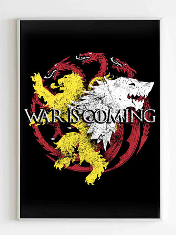 Game Ofthrones War Is Coming Poster - Nuu Shirtz