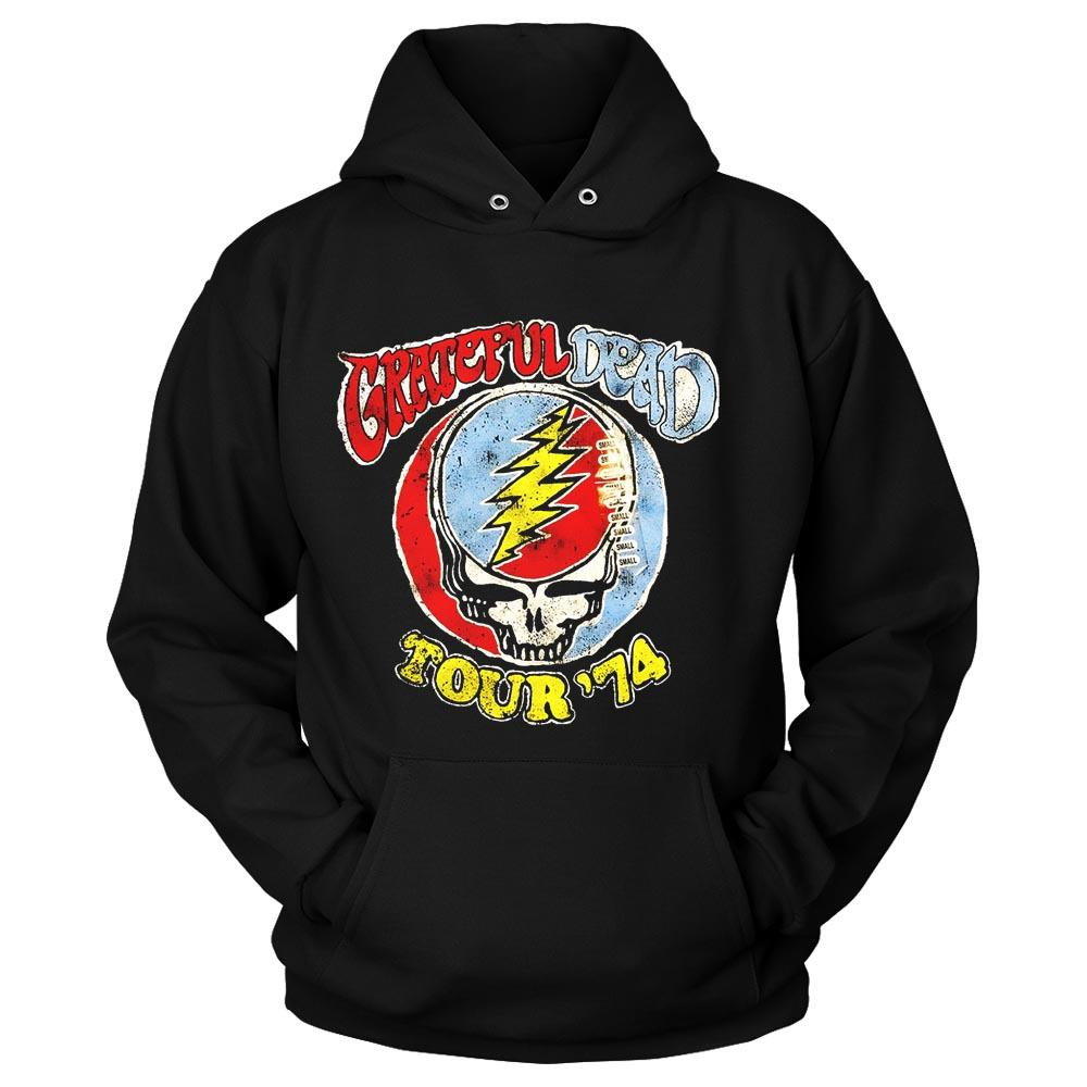 Grateful Dead Band Distressed Tour Graphic Unisex Hoodie
