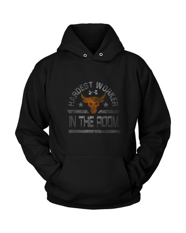 Hardest Worker In The Room The Rock Under Armour Project Grunge Unisex Hoodie