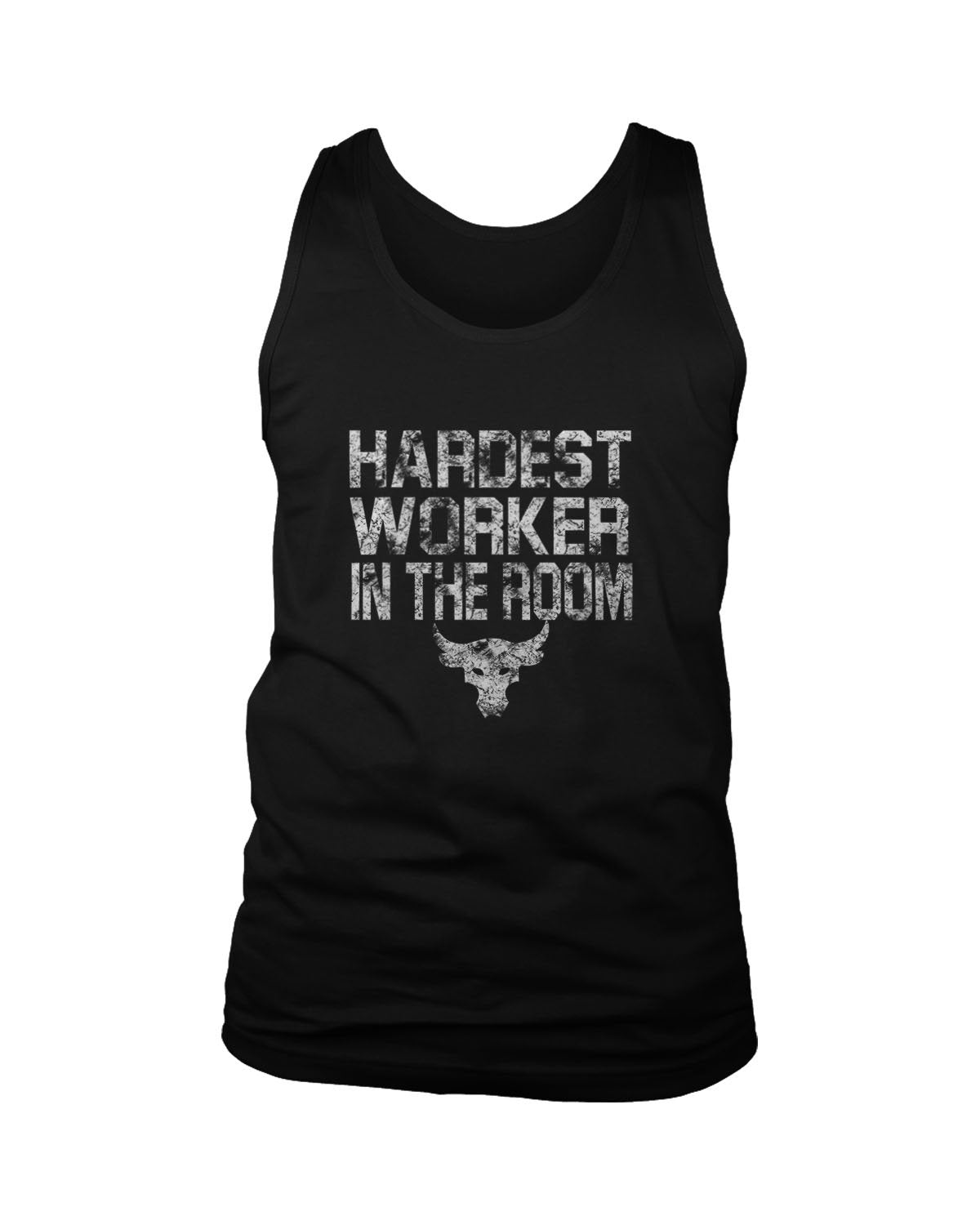 Hardest Worker In The Room Under Armour Iron The Rock Project Men's Tank Top