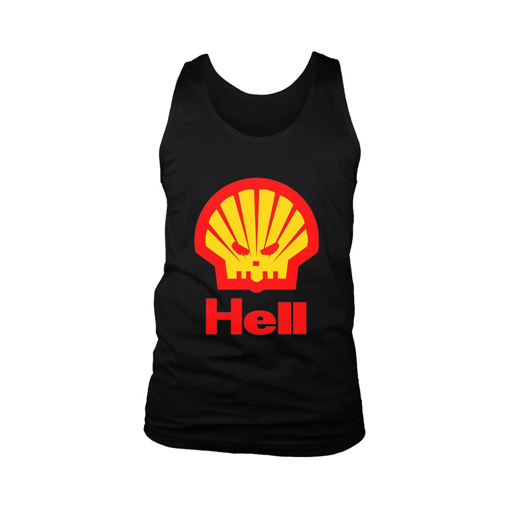 Hell Funny Shell Parody Men's Tank Top