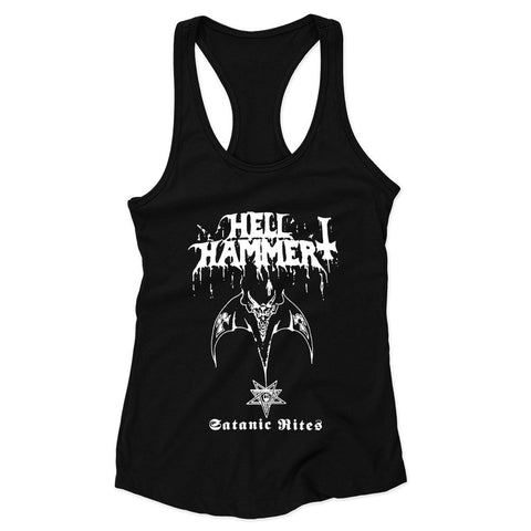 Hellhammer Satanic Rites Celtic Frost Woman's Racerback Tank Top - Nuu Shirtz