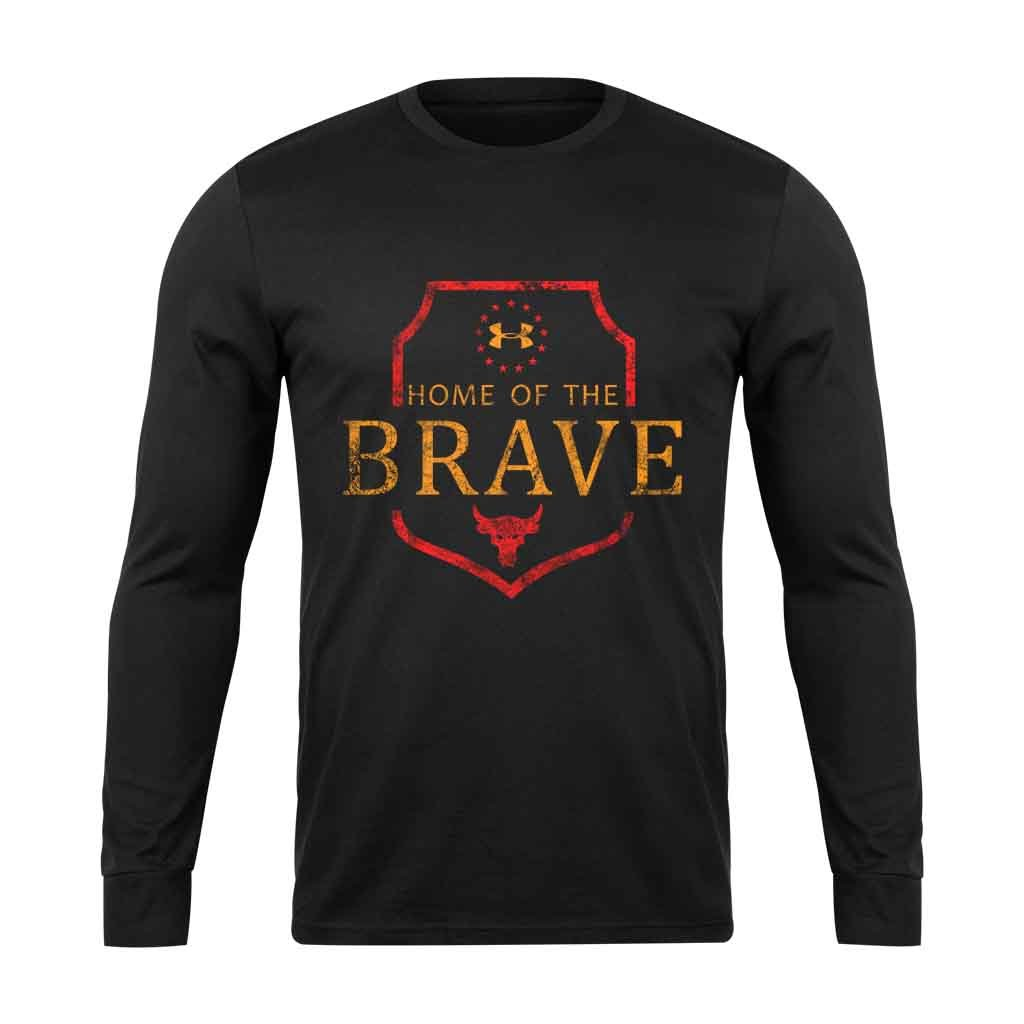 Home Of The Brave Under Armour The Rock Project Grunge Long Sleeve T-Shirt - Nuu Shirtz
