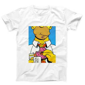Homer Simpson Eat Donut Poster Men's T-Shirt - Nuu Shirtz