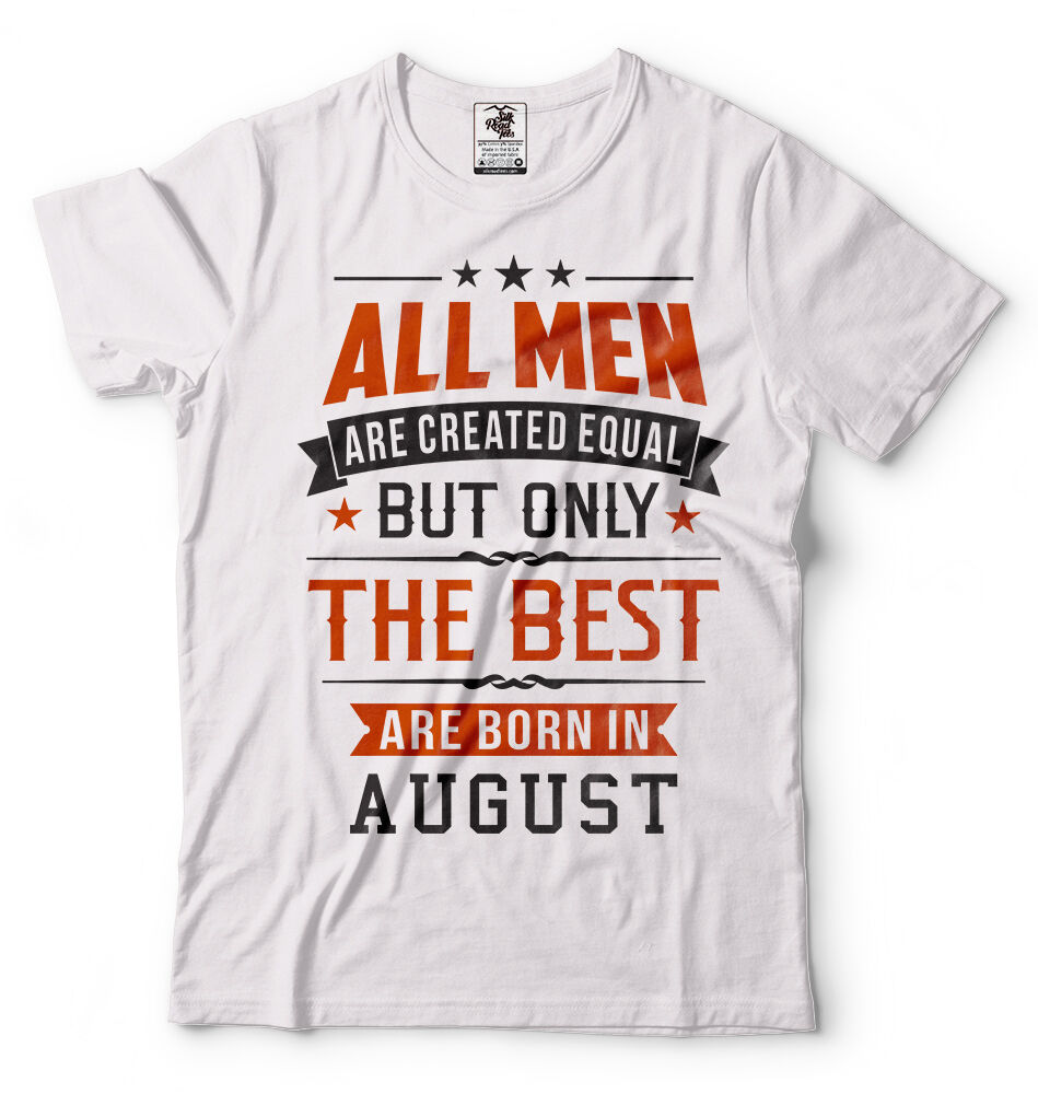 Idea Born In August Perfect Birthday Men's T-Shirt - Nuu Shirtz