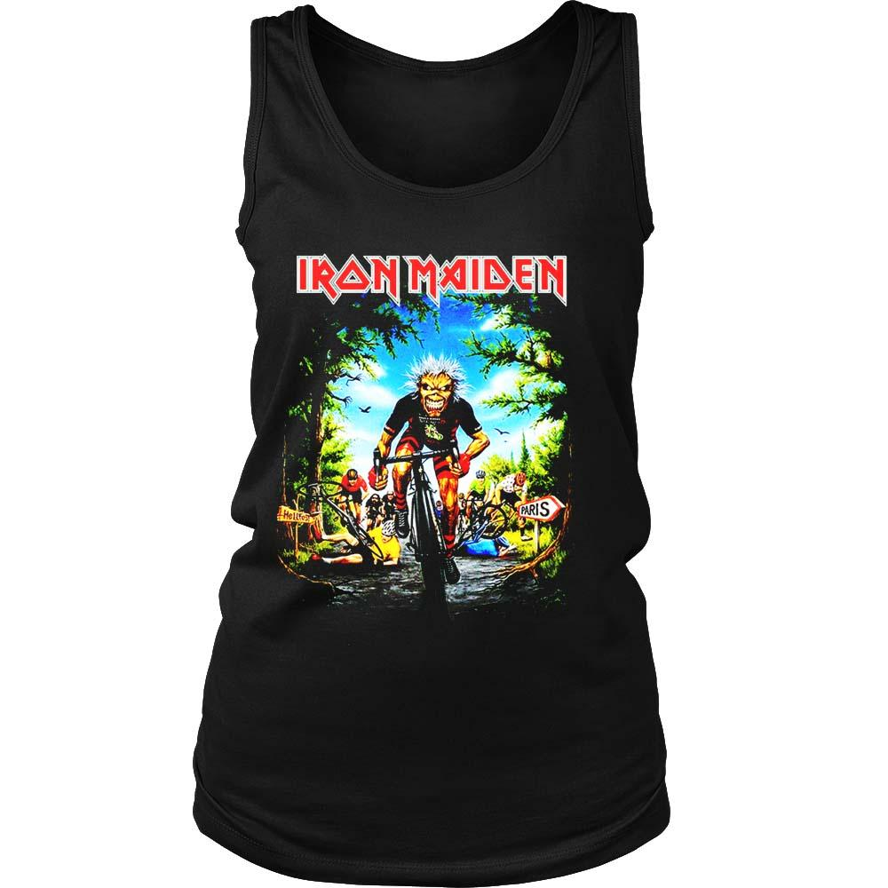 Iron Maiden Tour De Francerare Iron Maiden Women's Tank Top - Nuu Shirtz