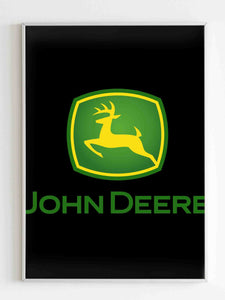 John Deere Tractor Enthusiast Farming Poster