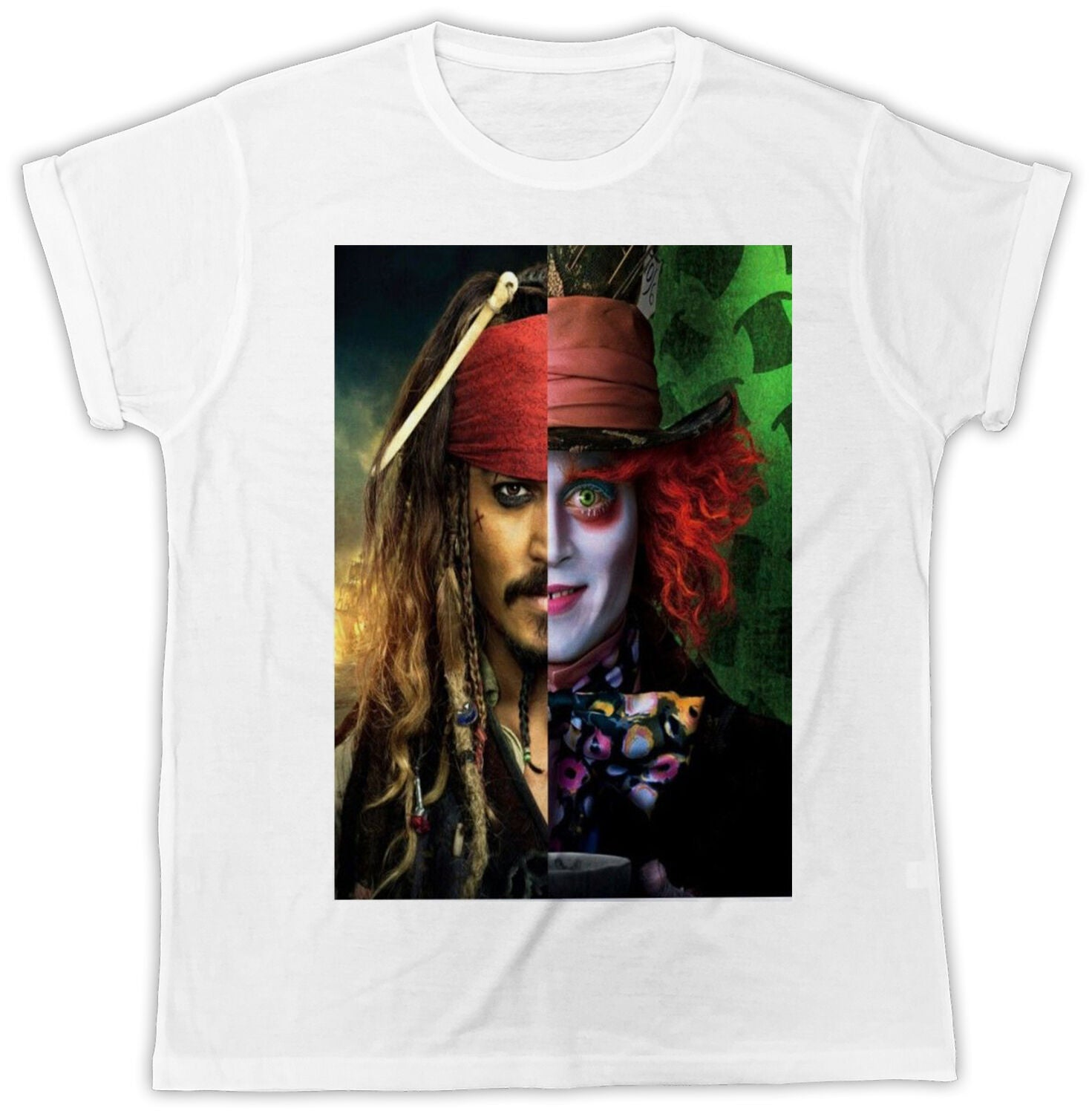 Johnny Depp Jack Sparrow Mad Hatter Men's T-Shirt - Nuu Shirtz