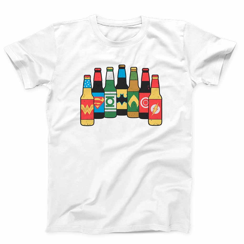 Justice League Beer Men's T-Shirt - Nuu Shirtz