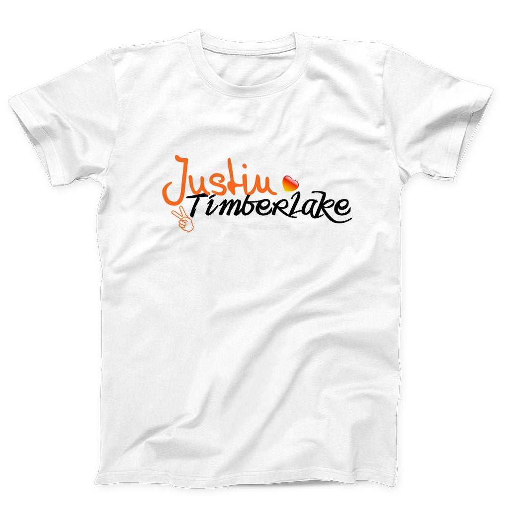 Justin Timberlake Peace And Love Logo Men's T-Shirt - Nuu Shirtz