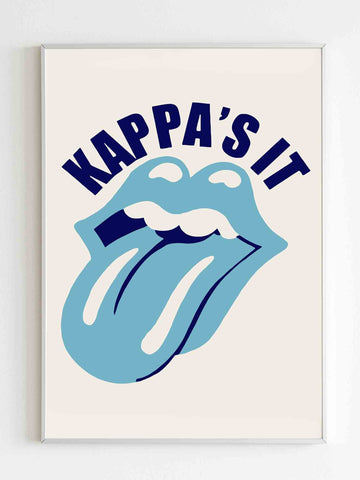 Kappas It Funny Rolling Stones Poster