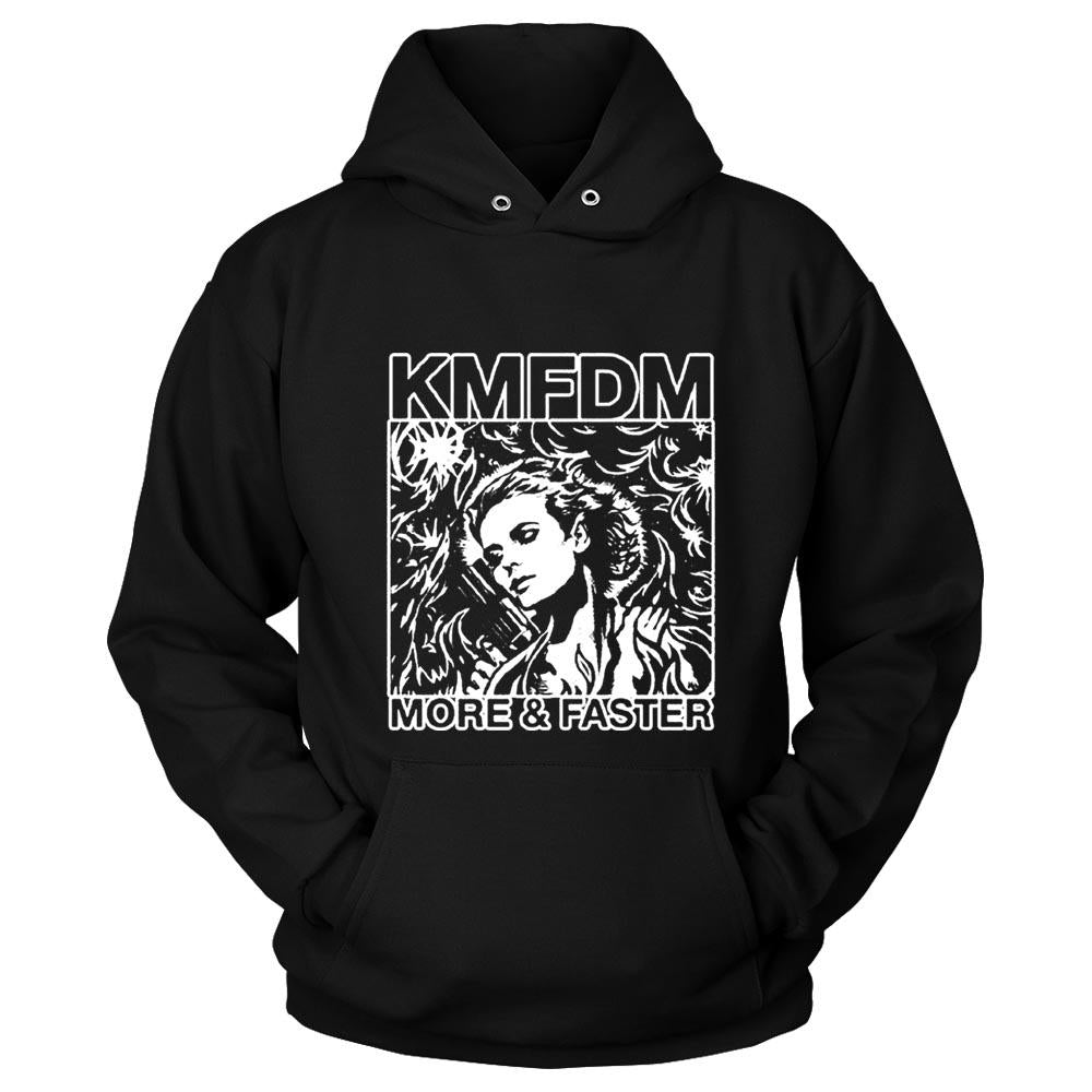 Kmfdm More And Faster Industrial Kraut Mdfmk Excessive Force Unisex Hoodie