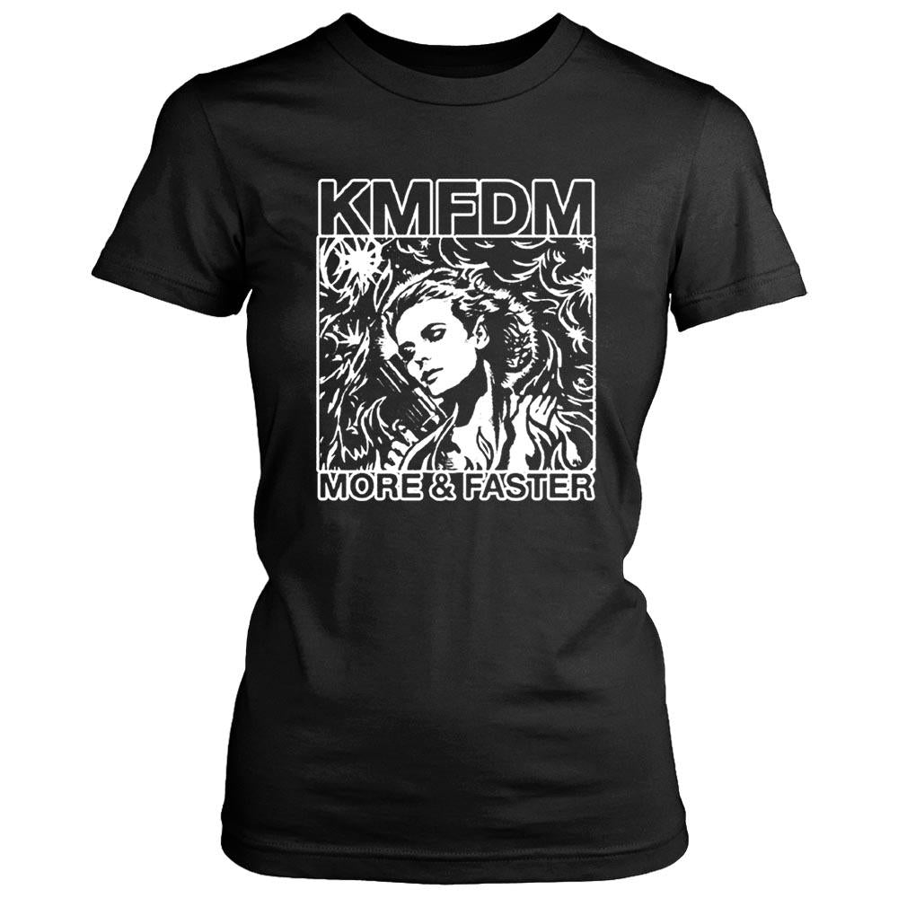 Kmfdm More And Faster Industrial Kraut Mdfmk Excessive Force Women's T-Shirt