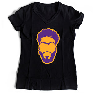 La Brow Lakers Women's V-Neck Tee T-Shirt - Nuu Shirtz