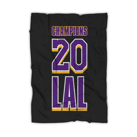 Lal 2020 Champions Of The World Lakers Fleece Blanket