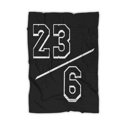 Lebron 23 6 Lakers Fleece Blanket