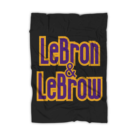 Lebron And Lebrow Lakers Lakers Fleece Blanket