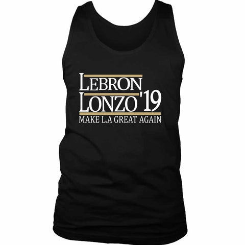 Lebron And Lonzo 19 Make La Lakers Men's Tank Top - Nuu Shirtz