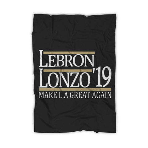 Lebron And Lonzo 19 Make La Lakers Fleece Blanket