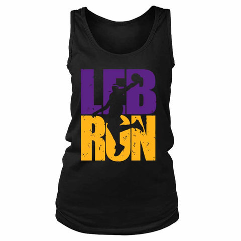 Lebron James Lakers Colors Dunking Lakers Women's Tank Top - Nuu Shirtz