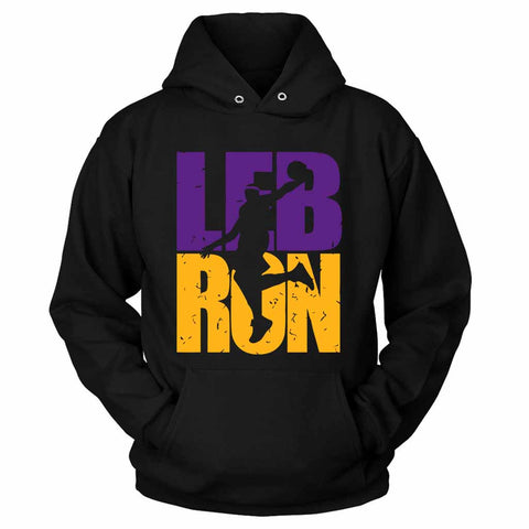 Lebron James Lakers Colors Dunking Lakers Unisex Hoodie