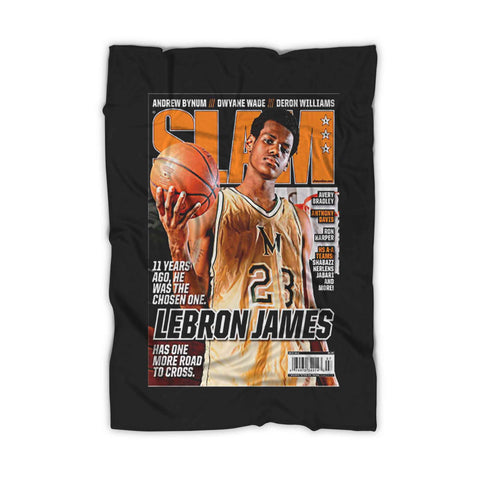 Lebron James Slam Lakers Fleece Blanket