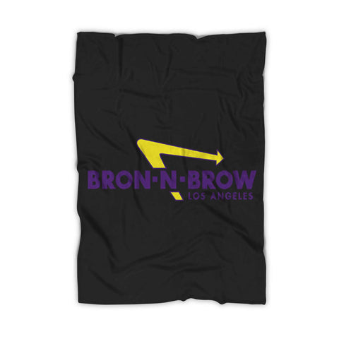 Lebron N Brow Lakers Fleece Blanket