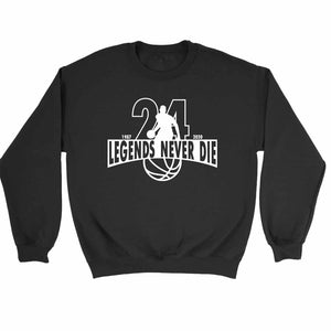 Legends Never Die Memorial Rip Kobe Lakers Sweatshirt Sweater - Nuu Shirtz