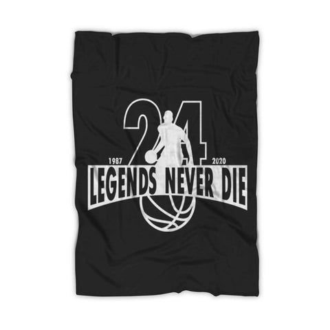 Legends Never Die Memorial Rip Kobe Lakers Fleece Blanket