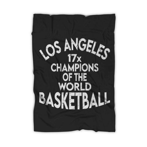 Los Angeles 17 Champions Lakers Fleece Blanket