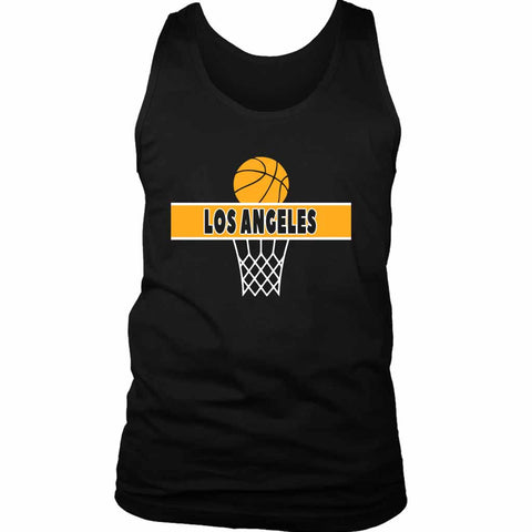 Los Angeles A Line Lakers Men's Tank Top - Nuu Shirtz