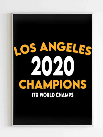 Los Angeles Basketball Champions 17X World Champs Lakers Matte Posters - Nuu Shirtz