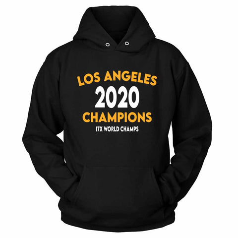 Los Angeles Basketball Champions 17X World Champs Lakers Unisex Hoodie