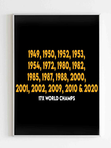 Los Angeles Basketball Champions Lakers Matte Posters - Nuu Shirtz