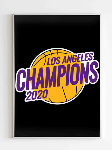 Los Angeles Lakers Championship 2020 Lakers Matte Posters - Nuu Shirtz