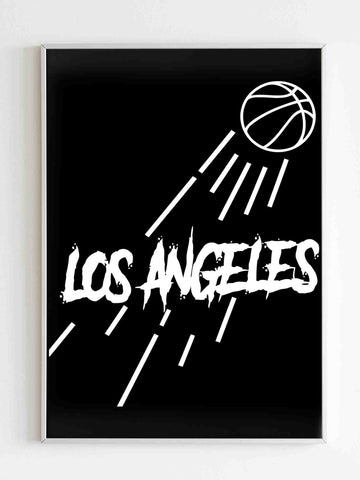Los Angeles Lakers Jump Matte Posters - Nuu Shirtz