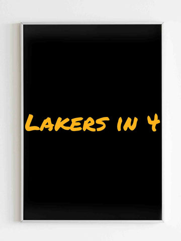 Los Angeles Lakers Playoff Statement Lakers Matte Posters - Nuu Shirtz