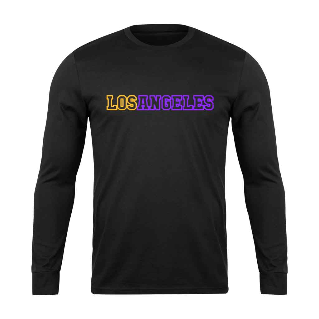 Los Angeles Logo Lakers Long Sleeve - Nuu Shirtz