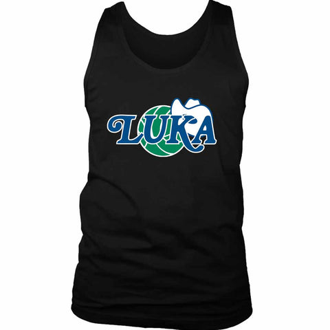 Luka Doncic Cool Retro Mavs Logo Mashup Basketball Lakers Men's Tank Top - Nuu Shirtz