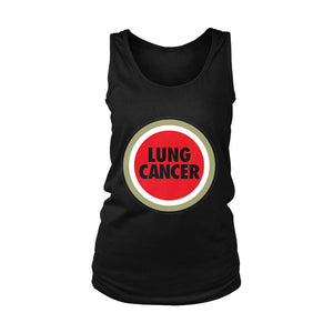 Lung Cancer Funny Lucky Strike Parody Women's Tank Top - Nuu Shirtz