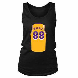 Markieff Morris Jersey Lakers Women's Tank Top - Nuu Shirtz
