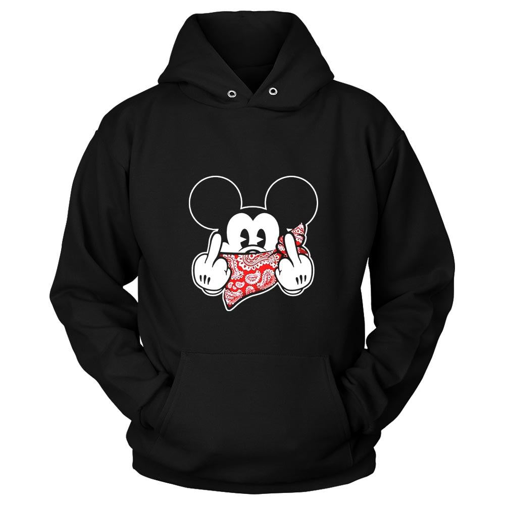 Mickey Mouse Thug Life Gangster Middle Finger Unisex Hoodie - Nuu Shirtz
