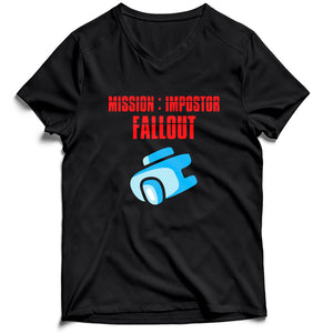 Mission Impostor Fallout Among Us Men's V-Neck Tee T-Shirt - Nuu Shirtz