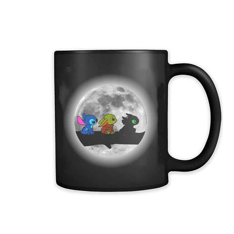 Moon Cute Babies Stitch Yoda Toothless 11oz Mug - Nuu Shirtz