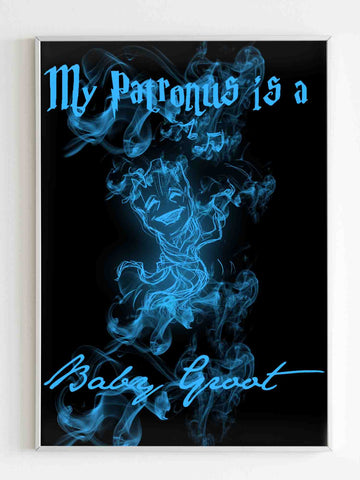 My Patronus Is A Baby Groot Poster