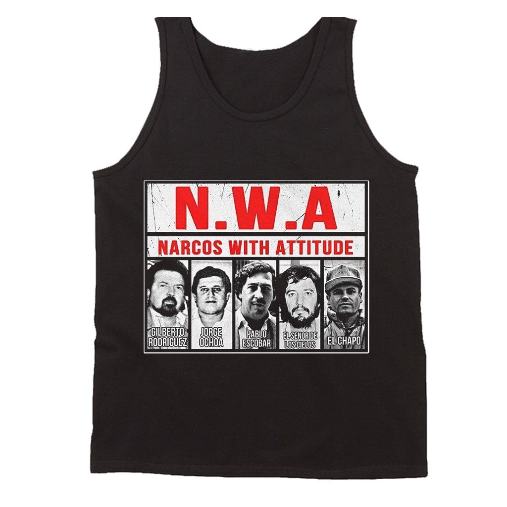 Narcos With Attitudes Pablo Escobar Chapo Men's Tank Top - Nuu Shirtz