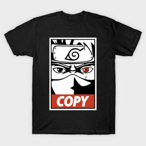 Naruto Kakashi The Copy Ninja X Obey Poster Men's T-Shirt - Nuu Shirtz