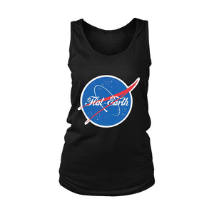 Nasa Flat Earth Women's Tank Top - Nuu Shirtz